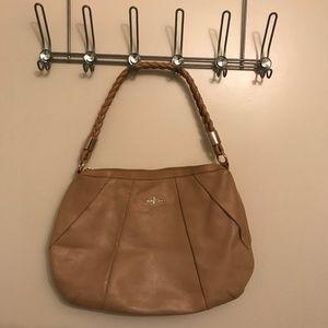 Cole Haan Nude/Tan Leather Hobo/Purse/Bag